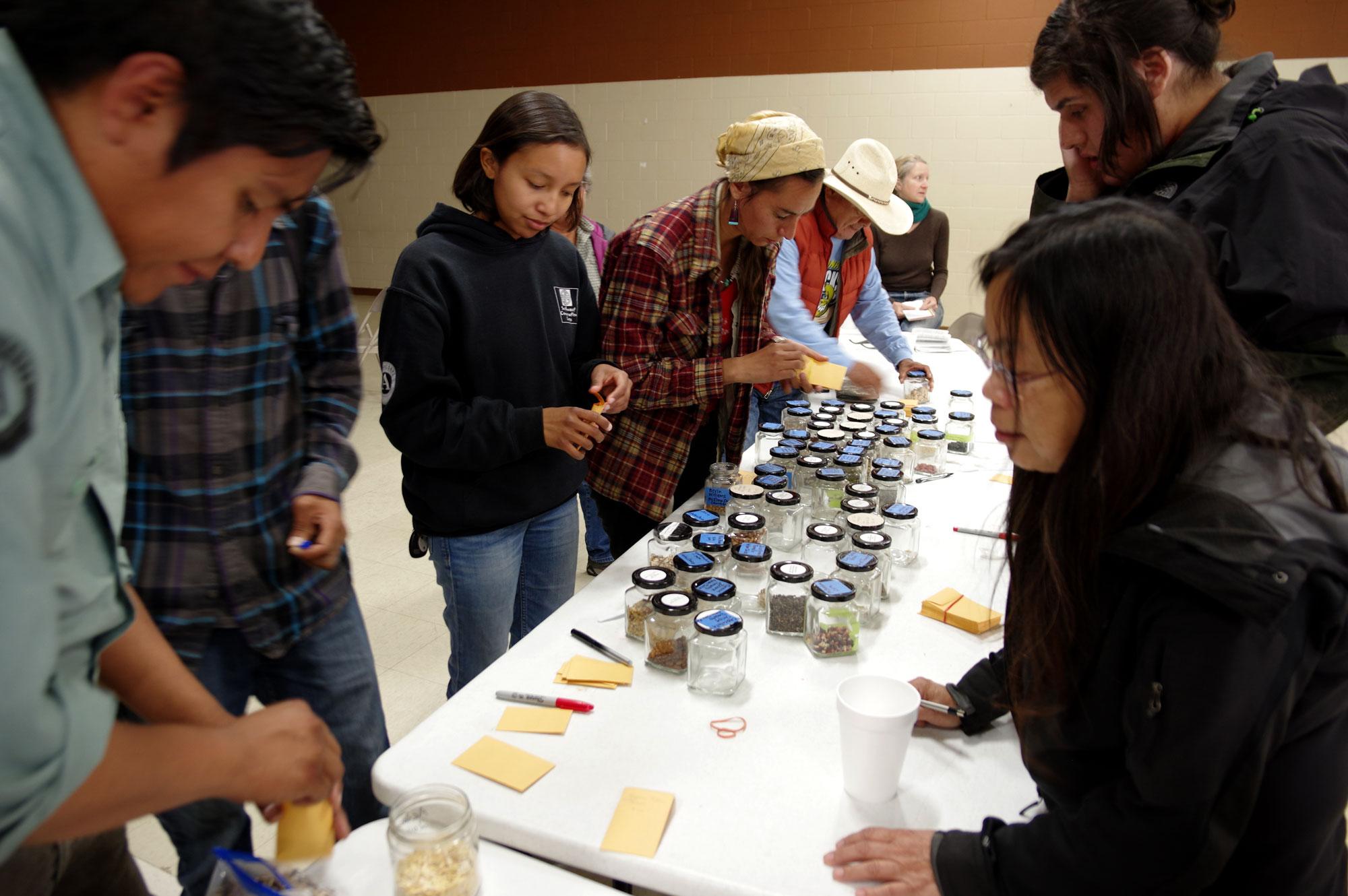 Seed Exchange at Acoma Workshop