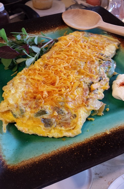 Sonoran Wild Green Omelet 2