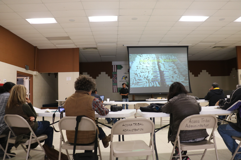 Chris Honahnie Presenting about Hopi Farming